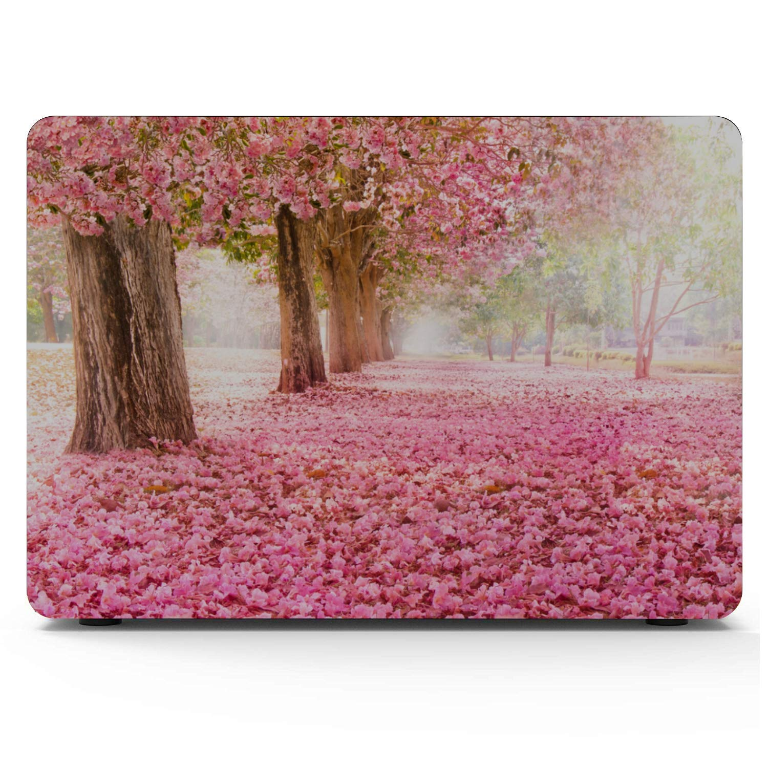 MacBook Pro 2018 Accessories Spring Beautiful Pink Flower Fragrant Plastic Hard Shell Compatible Mac Air 11 Pro 13 15 12inch MacBook Case Protection for MacBook 2016-2019 Version