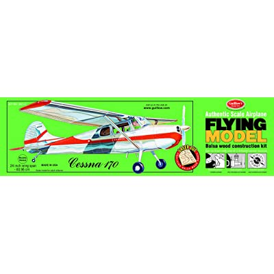 Guillow's Cessna 170 Laser Cut Model Kit: Toys & Games