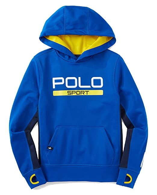 Boys' Sport Thermovent Pullover Polo Ralph Hoodie4tBlue Lauren wn8vN0m