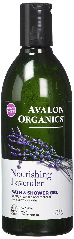 Avalon Organic Botanicals, Bath & Shower Gel, Lavender, 12 oz