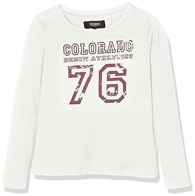 8ccfc92ea4a6c Colorado Denim - T-Shirt Manches Longues - Taille Normale - Col Ras du Cou  - Manches Longues Fille - Blanc - 12 Ans  Amazon.fr  Vêtements et  accessoires