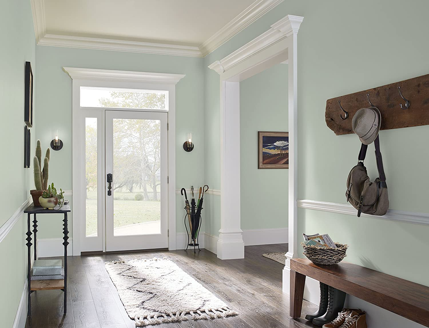 sea green color wall paint