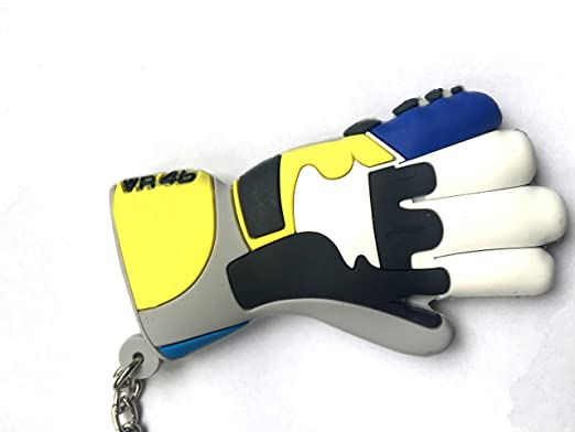 Amazon.com: Yellow Glove VR46 Signture Rubber Motorclycle ...