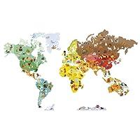 Janod J02850 - Magneti' Stick Sticker da Muro, Il Mondo