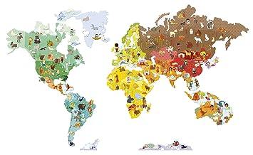 Amazon janod magnetistick wall dcor world map toys games janod magnetistick wall dcor world map gumiabroncs Choice Image