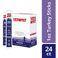 Vermont Smoke & Cure Meat Sticks - Antibiotic Free Turkey Sticks - Gluten-Free Snack - Paleo and Keto Friendly - Nitrate Free - Ancho Pepper - 1oz Stick - 24 Count