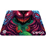 SteelSeries QcK+, Tapis de souris Gaming, 450mm x 400mm, Tissu, Base en gomme, Compatible Souris Laser & Optique - CS:GO Hyper Beast