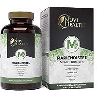 Nuvi Health® Mariendistel 4 gånger komplex – inledningspris – Med artikocka + lejontand + desmodium + piperin – 120…