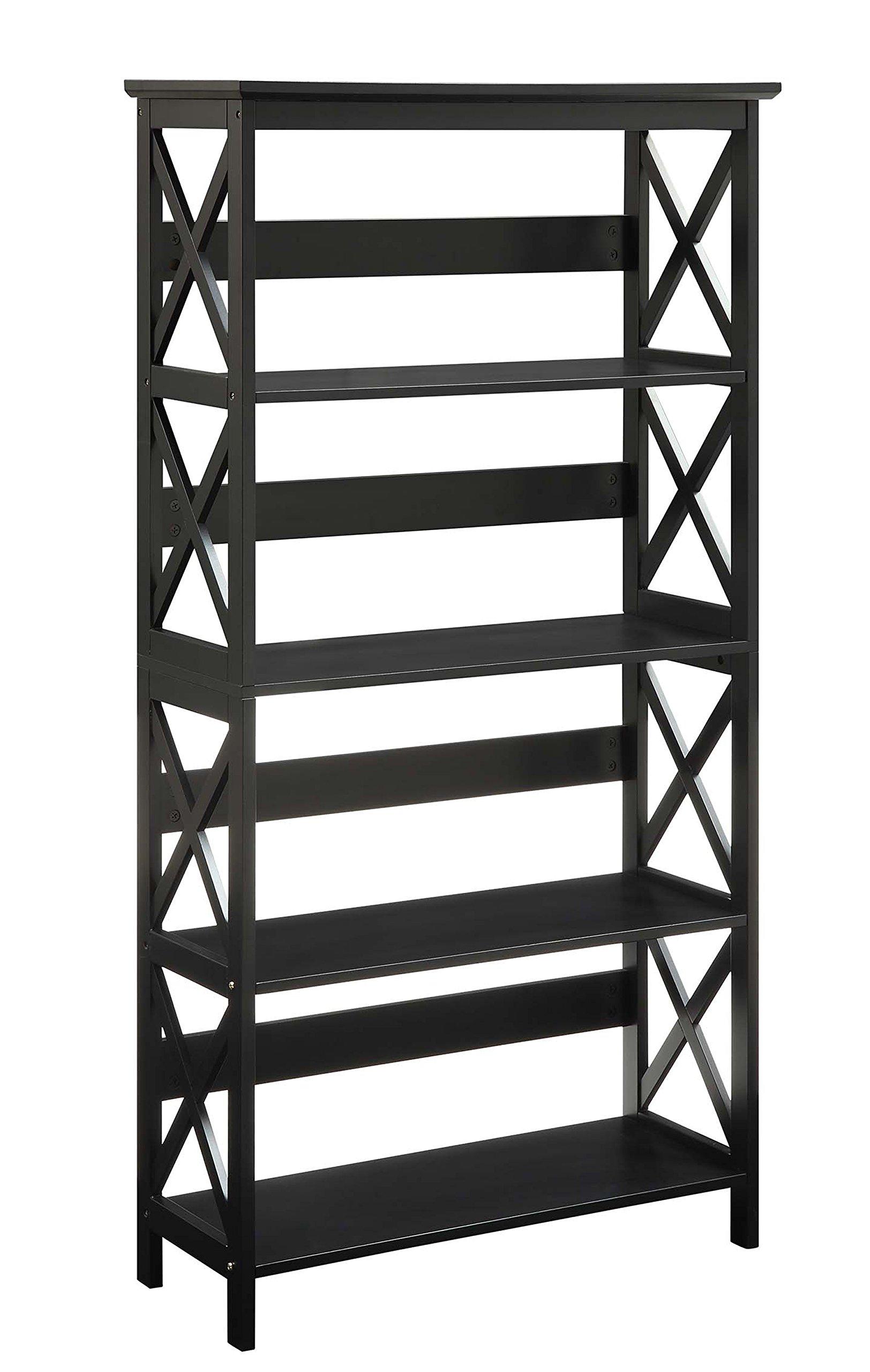 Convenience Concepts Oxford 5-Tier Bookcase, Black