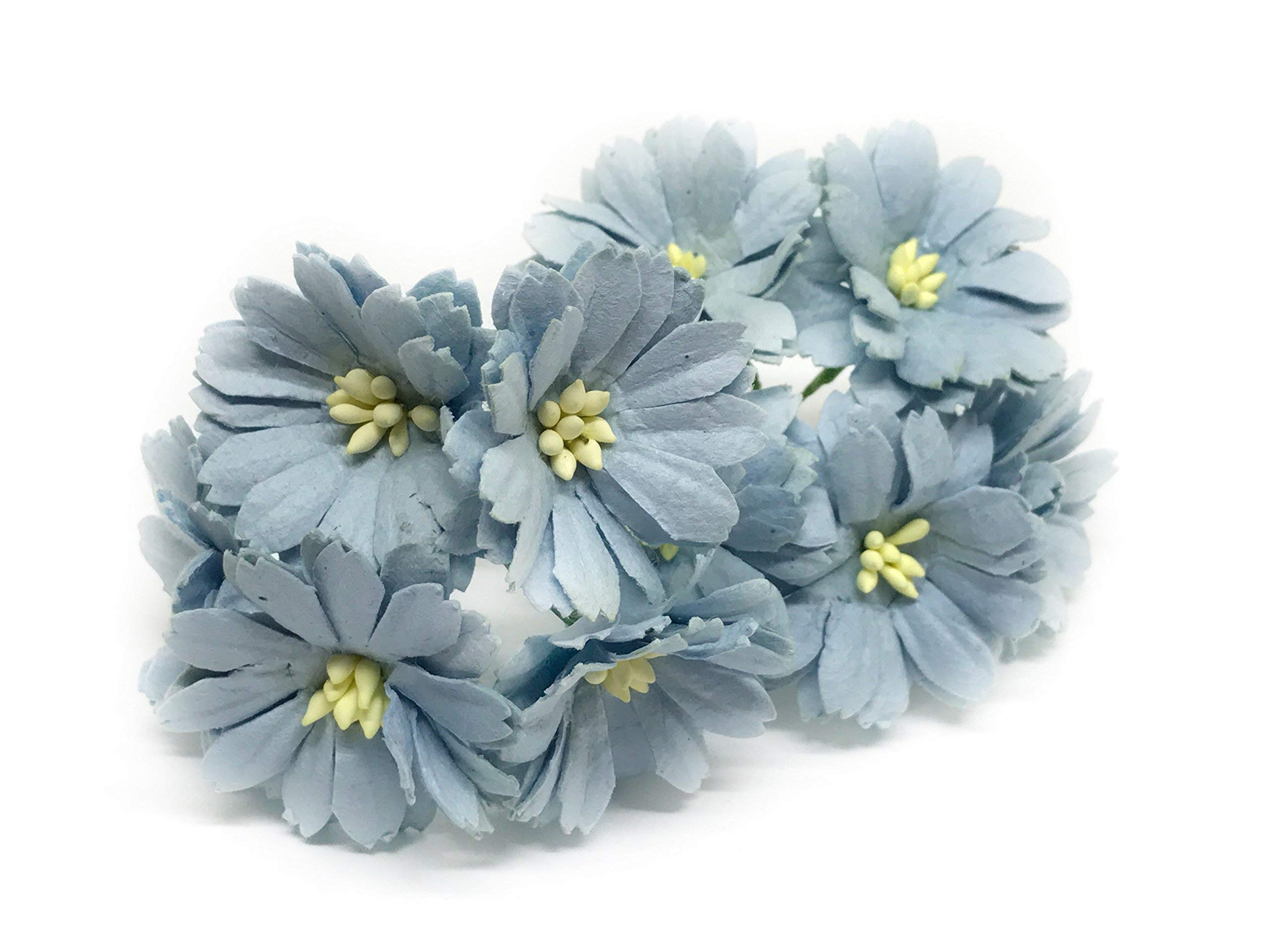15-Blue-Paper-Daisies-Mulberry-Paper-Flowers-Miniature-Flowers-Mulberry-Paper-Daisy-Paper-Flower-Wedding-Favor-Decor-Artificial-Flowers-25-Pieces