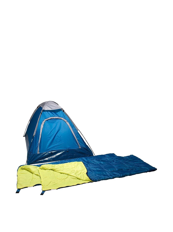 Columbus Pack Tienda Adulto + 2 Sacos de Dormir Combo Domepack Azul Única: Amazon.es: Deportes y aire libre