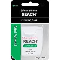 6-Pack Reach 55 Yards Mint Waxed Dental Floss