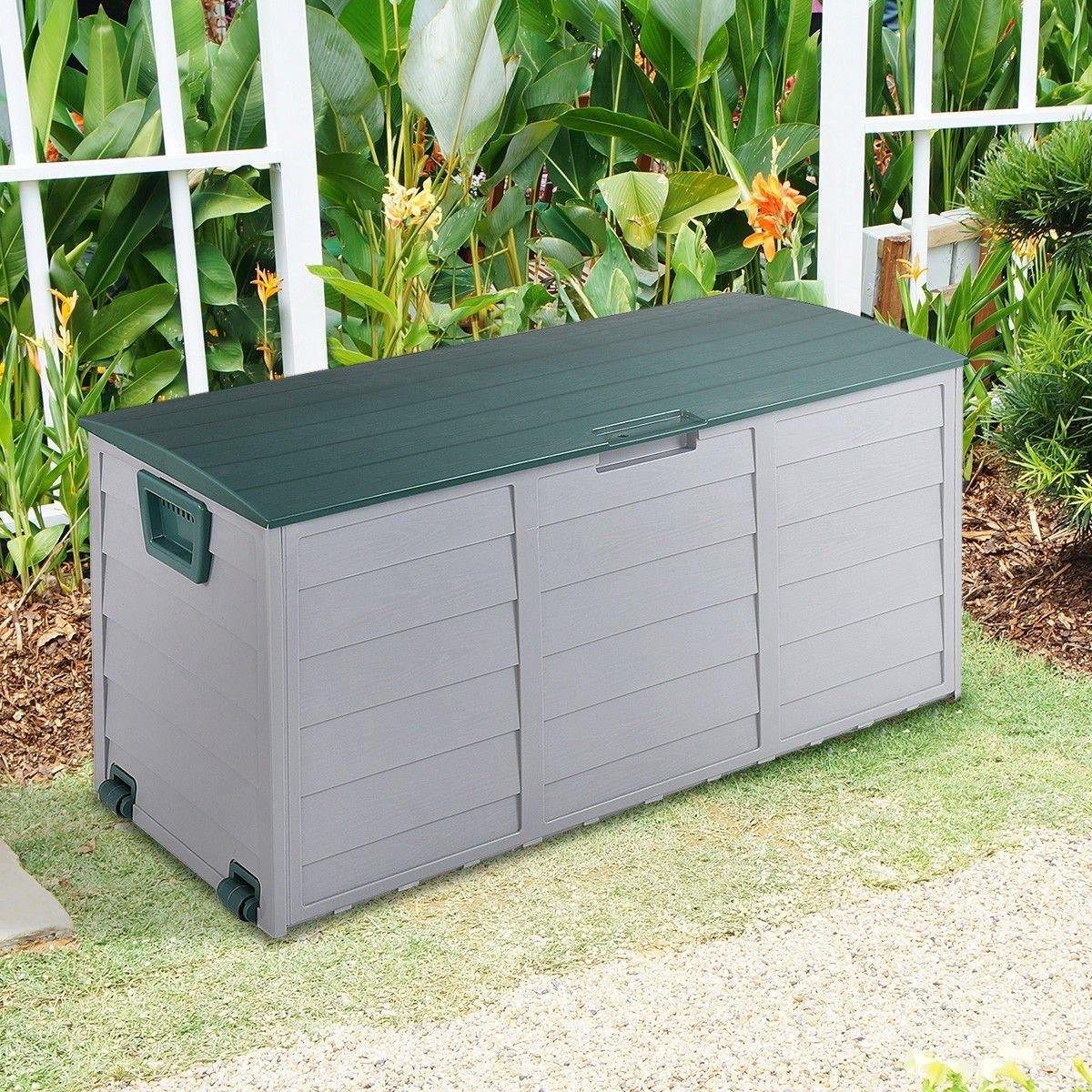 COSTWAY 70 Gallon Durable Outdoor Plasic Storage Box + FREE E-Book by COSTWAY (Image #6)
