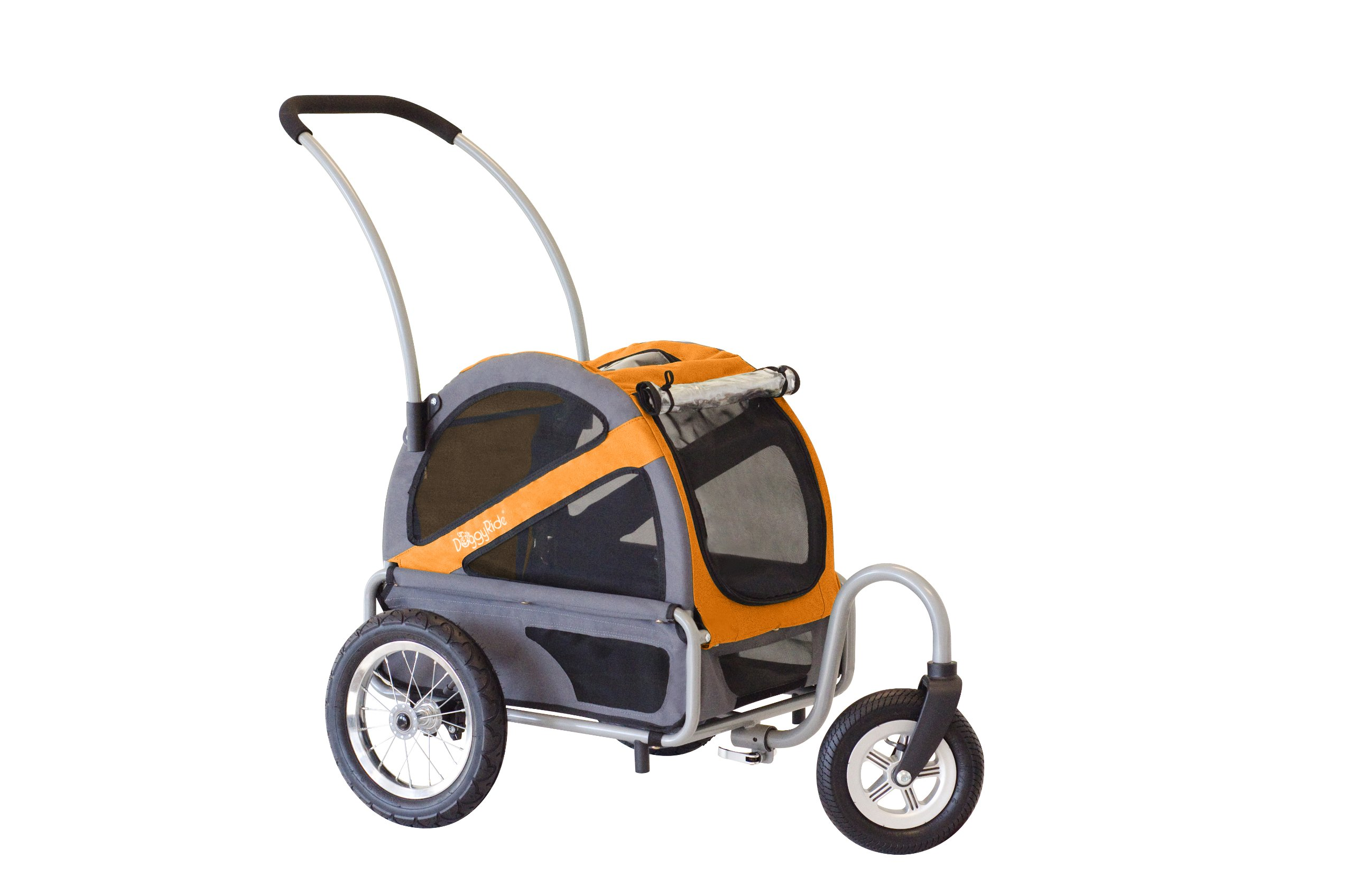 DoggyRide Dog Stroller, Mini, Dutch Orange/Grey