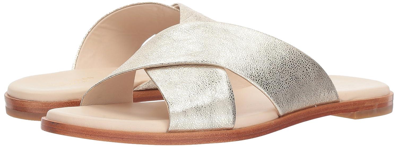 Cole Haan Women's Anica Criss Cross Slide Sandal B06ZY1HCYL 10 M US|Silver Glitter