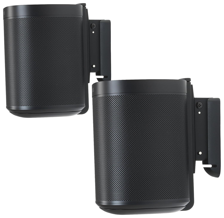 Flexson Wall Mounts for Sonos One - Pair (Black) S1WM2021