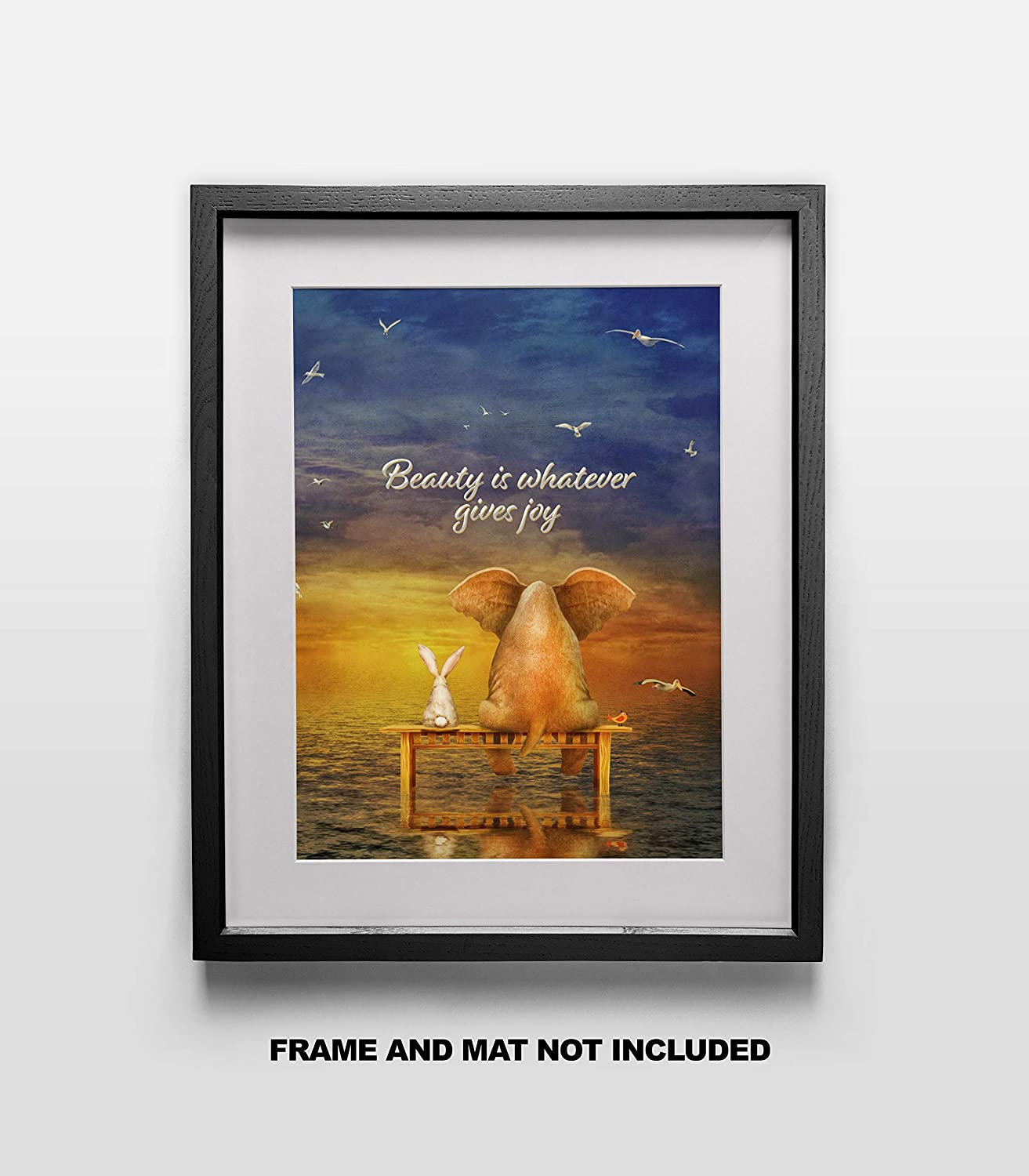 Nature Decor Poster 11x14 Unframed Photo Print Beauty is Whatever gives Joy Fine Art Print Quote Perfect Child Great Gift For Your Home or Bedroom Anniversary Gift Under $15 Dorm