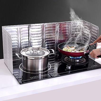 in alluminio 33 x 12,7 cm 2 pezzi da cucina antiaderente Paraspruzzi lato olio utensile da cucina protezione per spruzzi d/'olio per stufe e olio