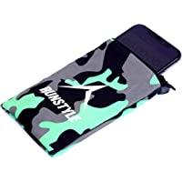 """RUNTYLE Running Armband/Running Phone Armband/Phone Armband for Running/Wrist Wallet for Forearm with Zipper and Water Resistant Phone Pouch - 6.5"""" (Camouflage Dark (Green/Black), S)"""