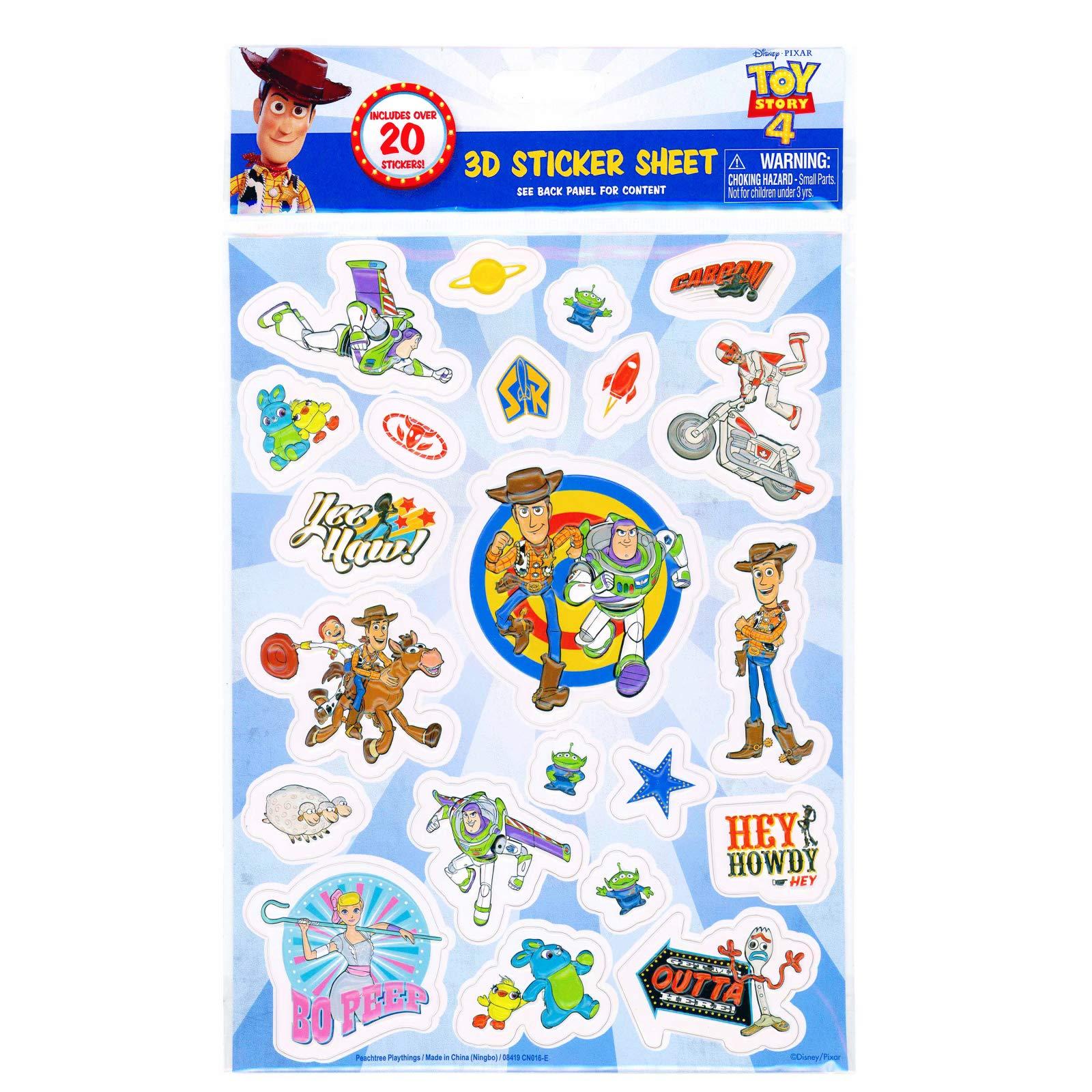 SB4X12EPFL Toy Story 4 X 12 Embossed Paper Sticker Wl
