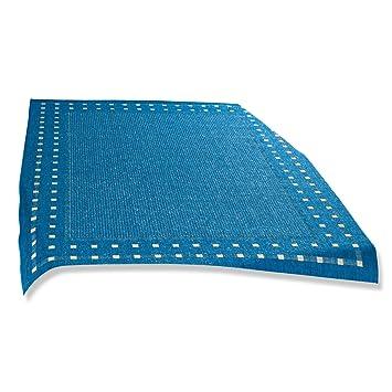 ROLLER Teppich OSLO - blau - rund - Ø 120 cm: Amazon.de: Küche ...