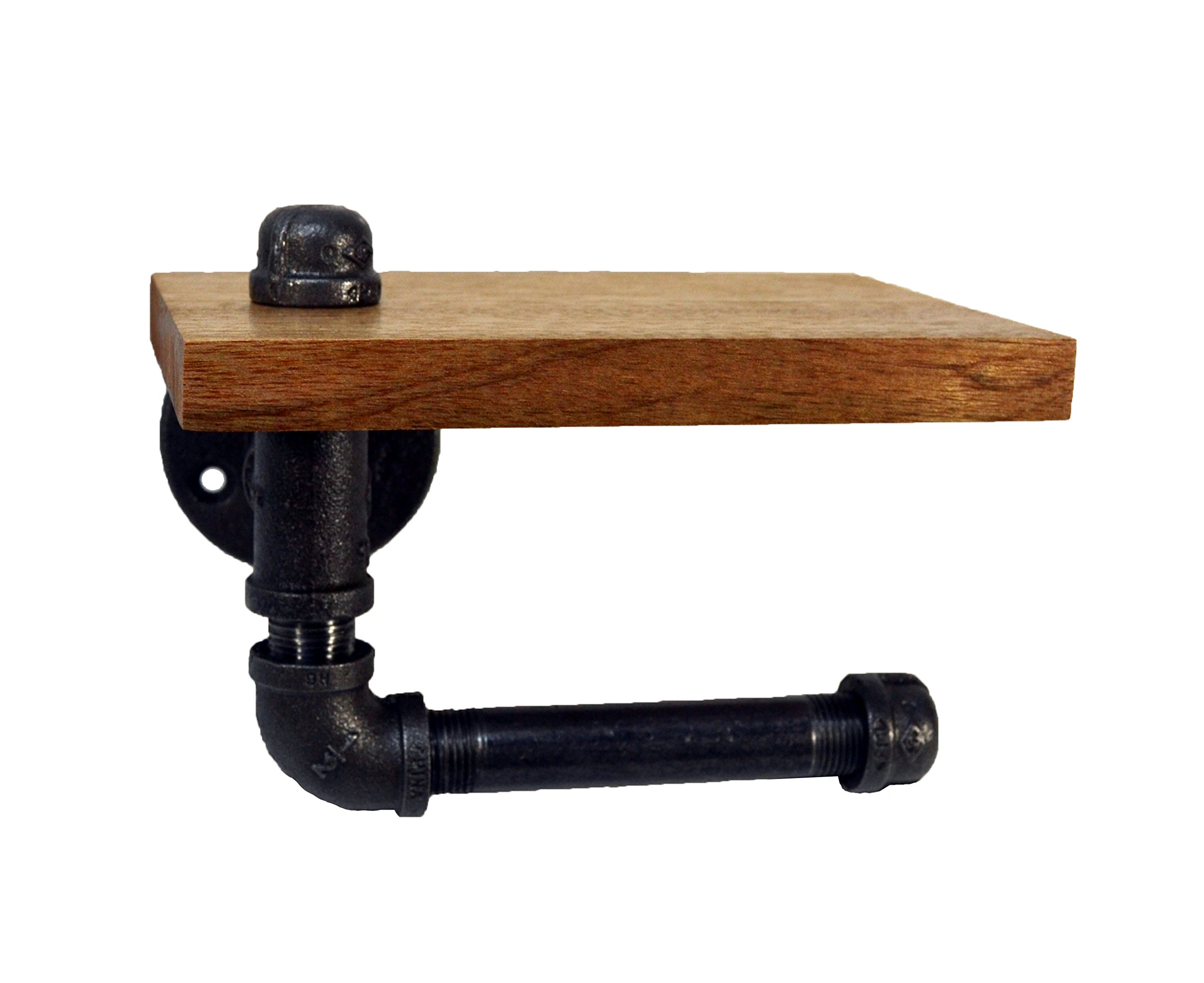 Turnbull Farms(TM) Wood and Pipe Toilet Paper Holder (Single, Mahogany) by Turnbull FarmsTM (Image #4)