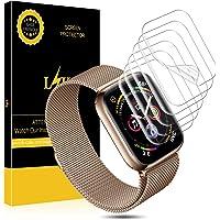L K [6 Pezzi Pellicola per Apple Watch (Serie 38mm 3/2/1 40mm Series 4 Compatibile), Wet Applied Pellicola Protettiva in TPU [Bubble-Free-Riutilizzabile] HD Clear Apple Watch
