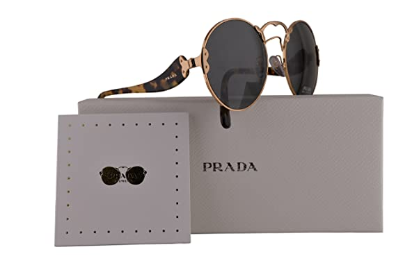 Womens 0PR68TS ZVN117 Sunglasses, Pale Gold/Pinkmirrsilverlaserflower, 63 Prada