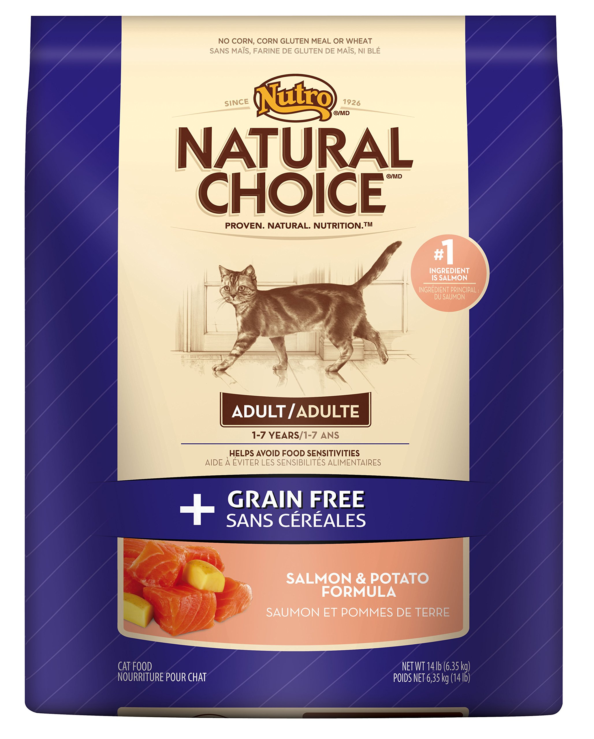NATURAL CHOICE GRAIN FREE Adult Cat Salmon and Potato Formula - 14 lbs. (6.35 kg)