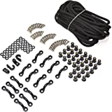 Marine Masters Expanded Deck Rigging Kit Accessory for Kayaks Canoes and Boats With Wellnuts