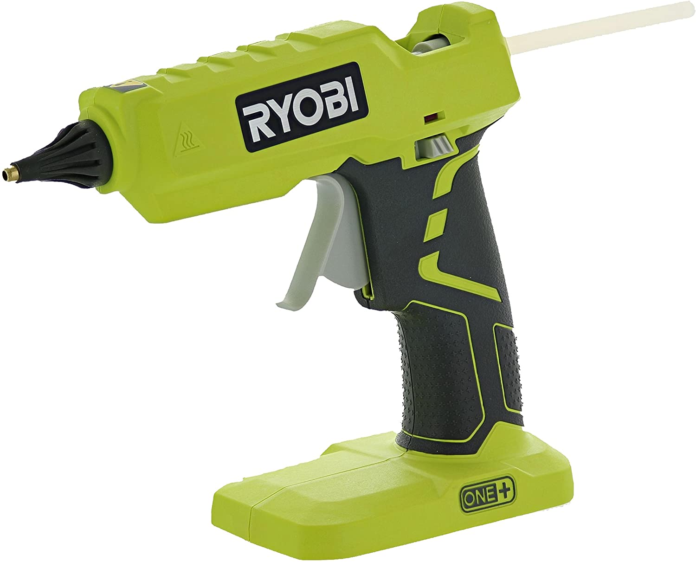 Ryobi P305 One+ 18V Lithium Ion Cordless Hot Glue Gun w/ 3 Multipurpose Glue Sticks (Battery Not Included / Power Tool Only)
