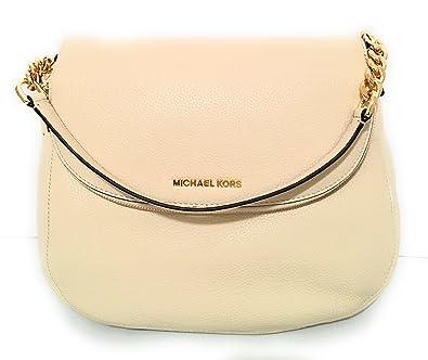 64b49f1e3552 Michael Kors Bedford Pebbled Leather Large Tassel Convertible Shoulder Bag  Medium Handbag (Ecru) RRP