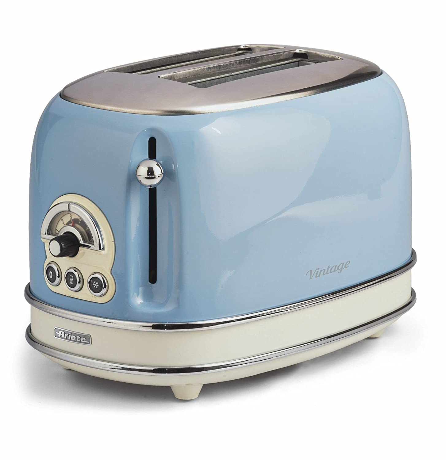 Ariete Vintage 155 LB Retro 2 slice Toaster Light Blue Ariete UK