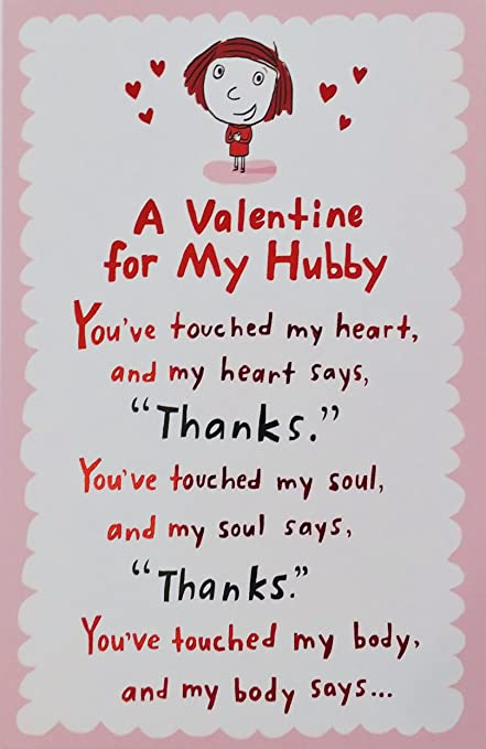 Amazon a valentine for my hubby happy valentines day a valentine for my hubby happy valentines day greeting card for husband cute m4hsunfo