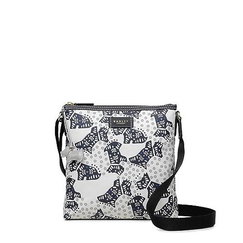 95780eaa157 Radley Folk Floral Dog Medium Zip Top Cross Body Bag - MEDIUM, CHALK   Amazon.co.uk  Shoes   Bags