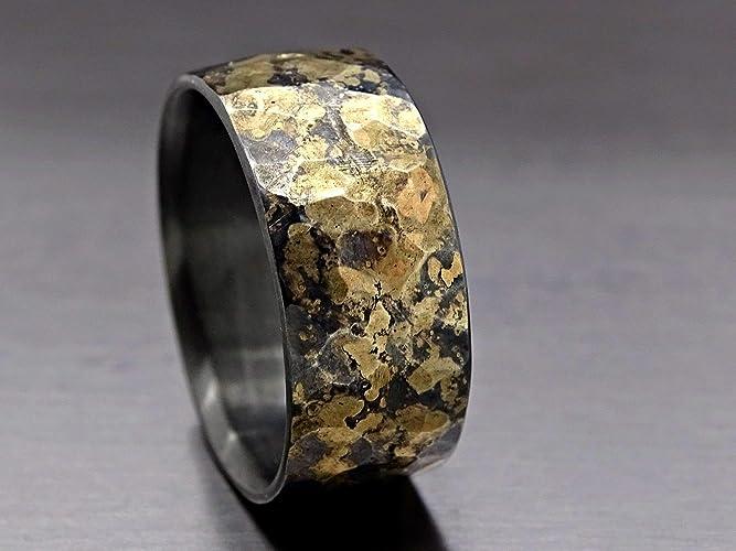Unique Wedding Ring.Amazon Com Mens Wedding Band Mens Wedding Ring Oxidized Ring Black