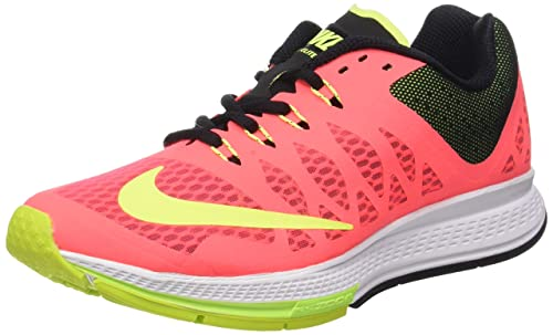 detailed look 2d254 9d033 Nike Women s Air Zoom Elite 7 Hyper Punch Volt Black Running Shoe 8. 5  Women US  Amazon.in  Shoes   Handbags