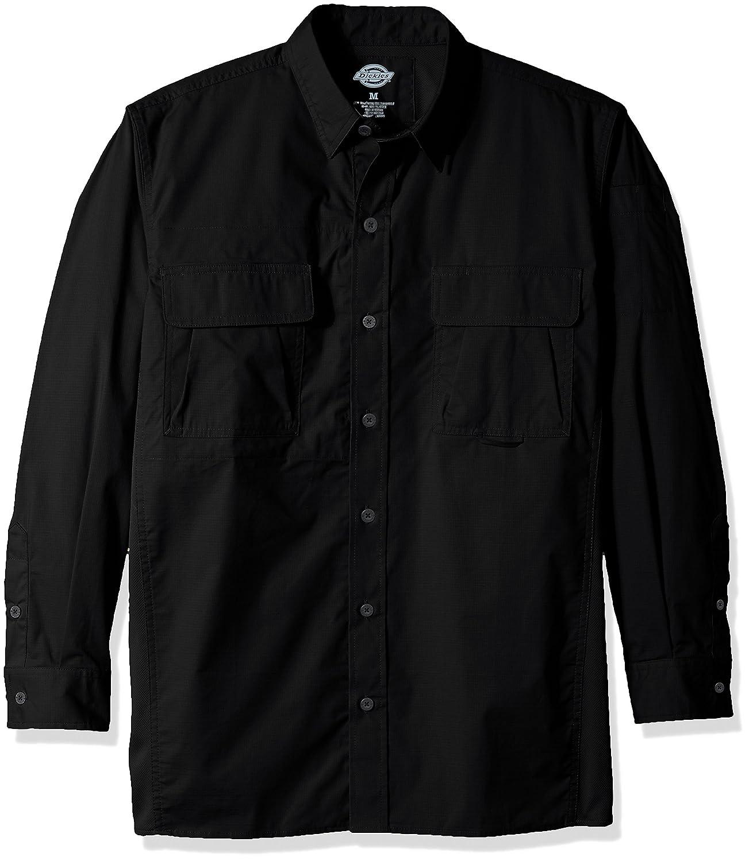 Dickies ll953メンズ通気リップストップタクティカルシャツ B00XRMDLMC 4L|ブラック ブラック 4L
