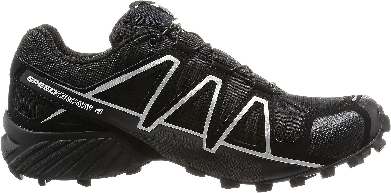 SALOMON speedcross 4 gtx, scarpe da trail running uomo, nero (blackblacksilver metallic x), 40 eu
