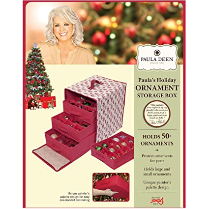 Paula Deen Ornament Storage Container U0026 Closet Organizer   Perfect Holder  For Christmas Tree Or Holiday