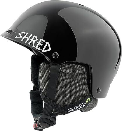 Shred Ski Helmet, Snowboard Helmet, Half Brain Helmet Deluxe, Half Shell, Blackout