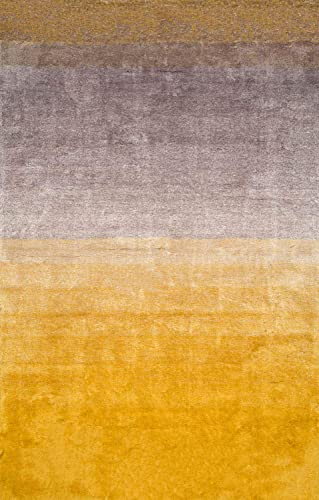nuLOOM Ana Ombre Shag Rug, 5 x 8 , Yellow