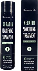 Keratin + Collagen Hair Smoothing Treatment 10oz/300ml. Formaldehyde Free. Repairs and Straightens