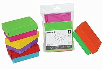 Buntbox - Cajas de regalo (4 unidades, pequeñas, 10.2 x 6.5 x 4.6 cm): Amazon.es: Oficina y papelería