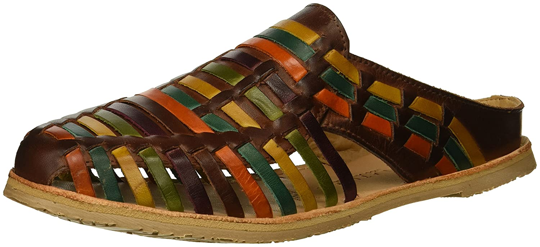 Very Volatile Women's Cheeky Flat Sandal B075KNW56M 7 B(M) US|Brown/Multi