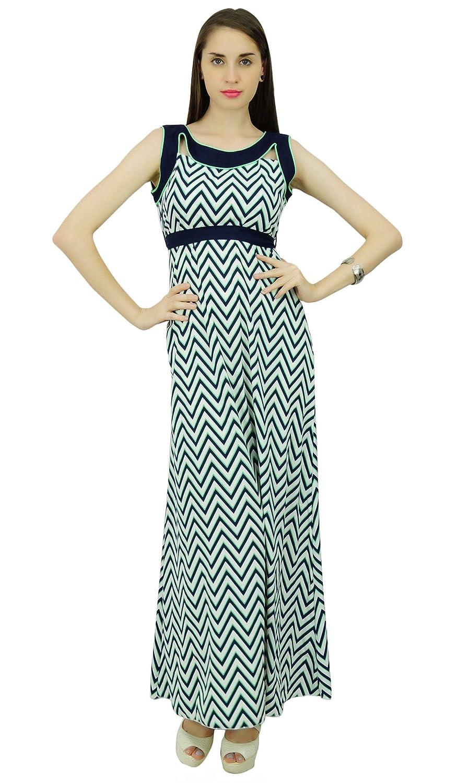 Phagun Summer Zig Zag Print Polyester Dress Women Casual Sundress ...