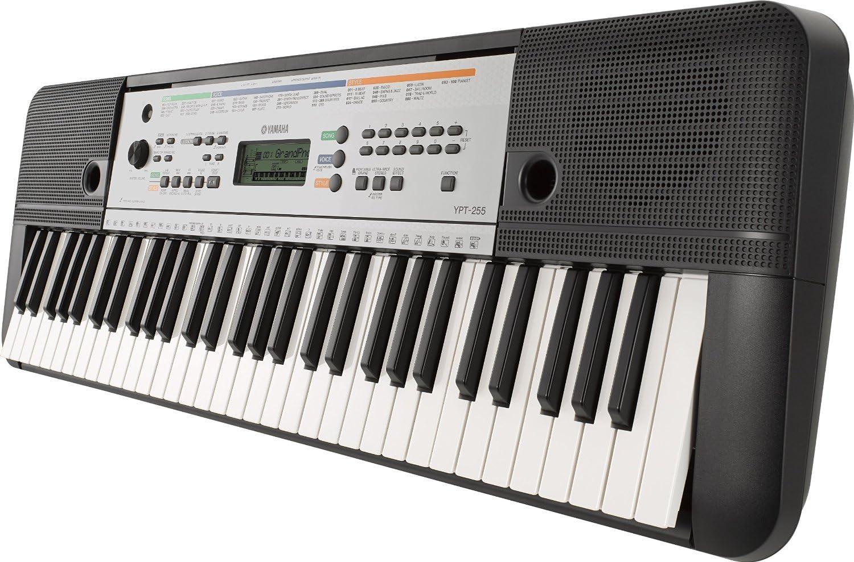 Yamaha YPT-255 - Teclado electrónico (61 teclas, 385 sonidos), color gris metal: Amazon.es: Instrumentos musicales