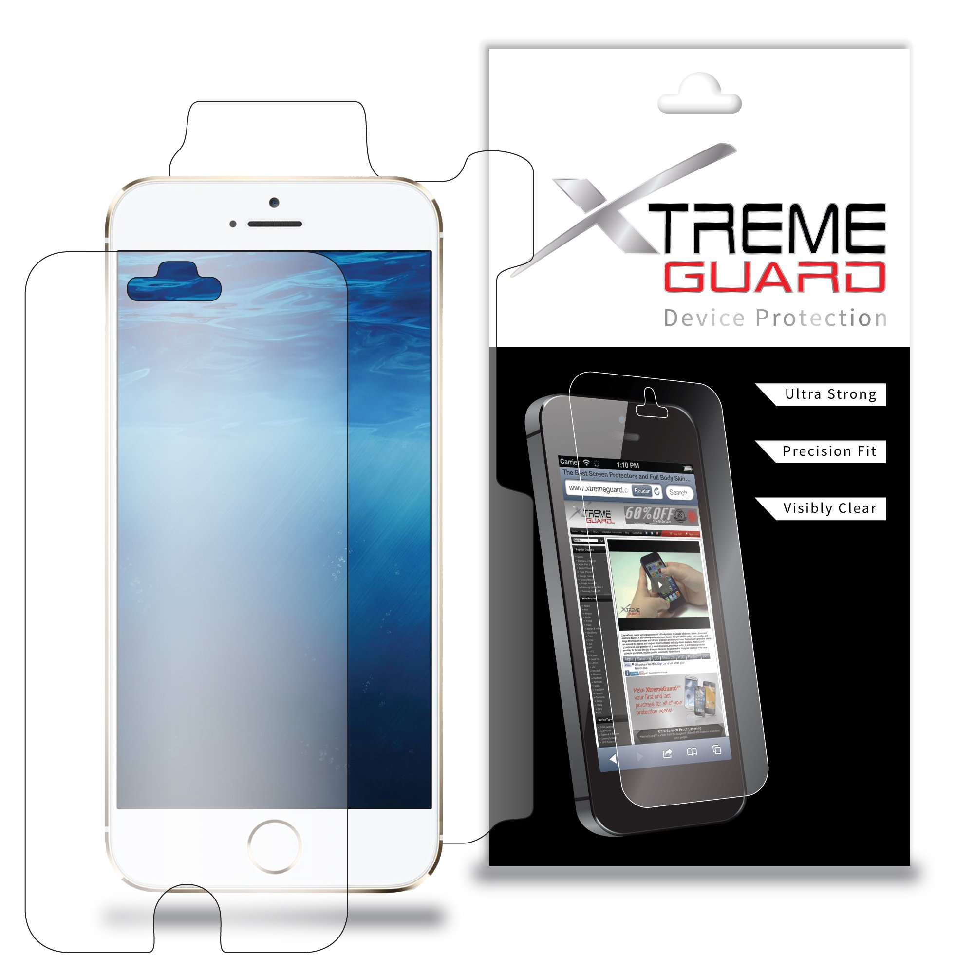XtremeGuard Full Body Screen Protector Cover for Apple iPhone 6 4.7'' (Ultra Clear)