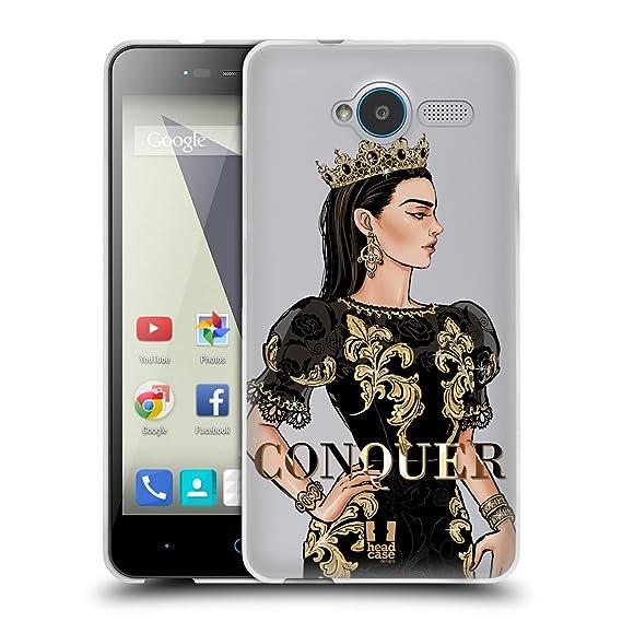 Amazon com: Head Case Designs Conquer Gold Queens Soft Gel Case for