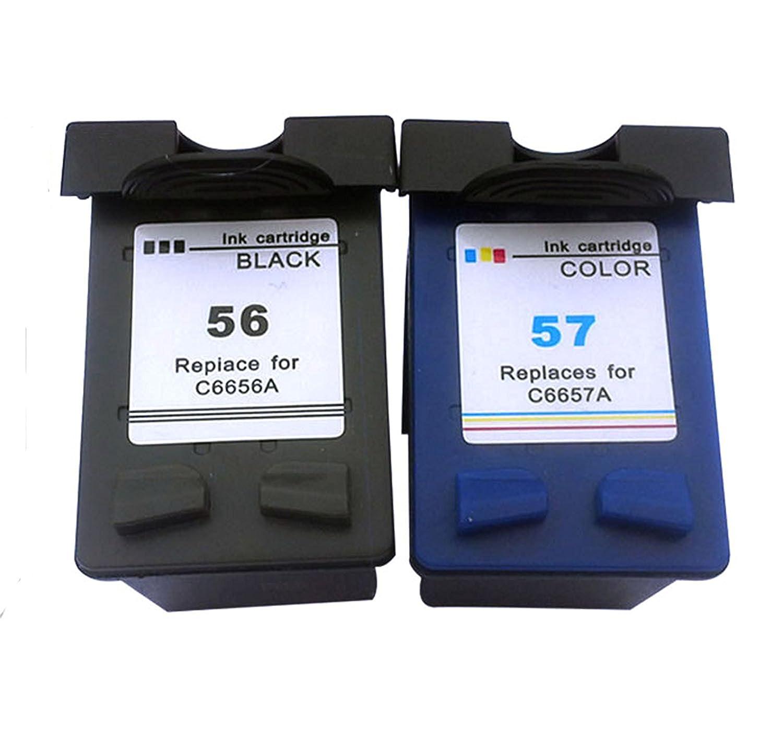 daryo Cartuchos de tinta remanufacturados para HP 56 HP 57, y ...